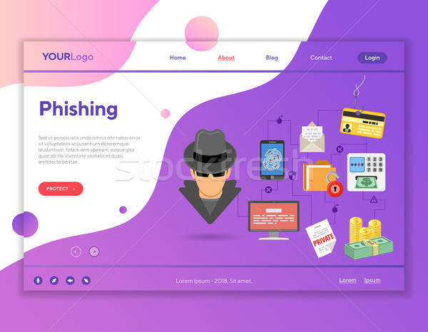 Phishing crime site web publicité comme Photo stock © -TAlex-