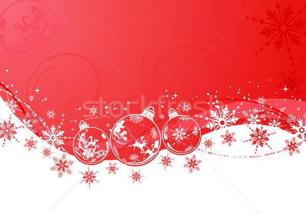 Karácsony gömb hullám minta alkotóelem terv textúra Stock fotó © -TAlex-