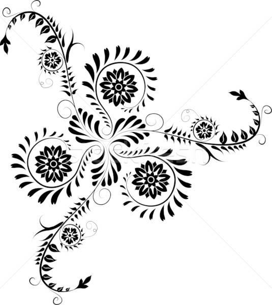 Alkotóelem terv sarok virág vektor virág keret Stock fotó © -TAlex-