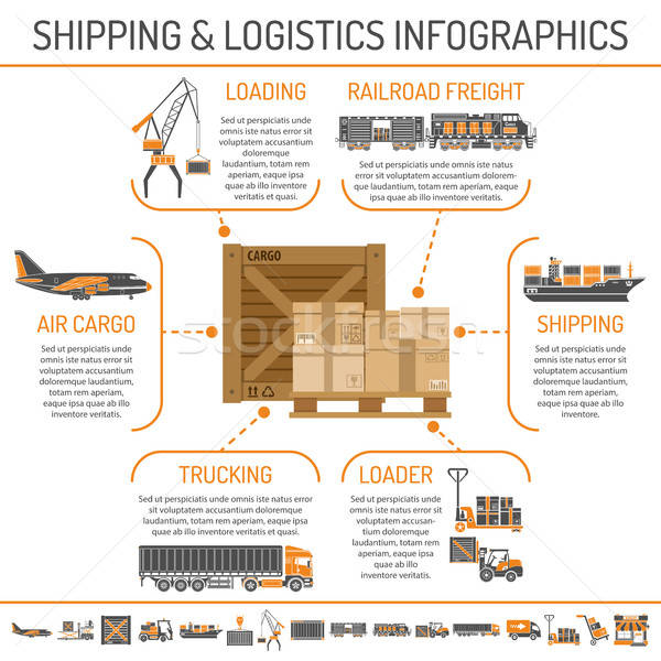 Shipping and logistics infographics Stock photo © -TAlex-