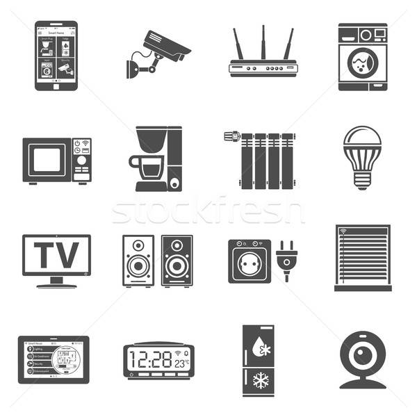 Smart House and internet of things icons set Stock photo © -TAlex-