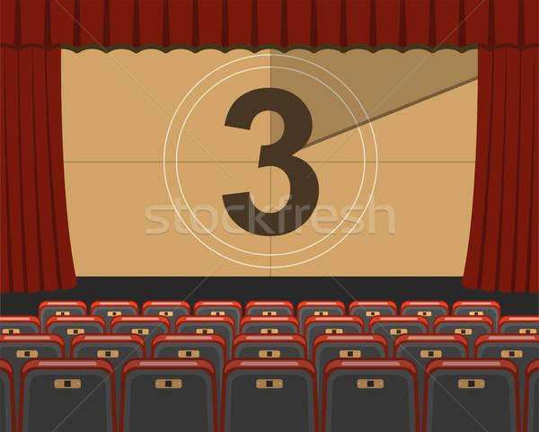 кино аудитория пусто иконки обратный отсчет экране Сток-фото © -TAlex-