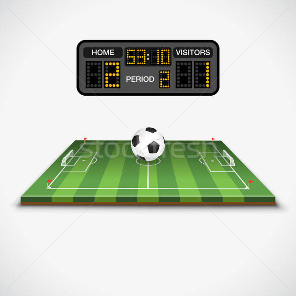 Terrain de football balle tableau de bord football terrain de football pavillon Photo stock © -TAlex-