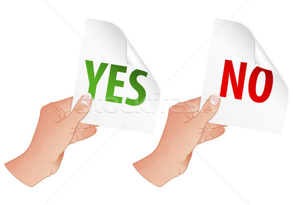 Hand with Yes and No Signs Stock photo © -TAlex-