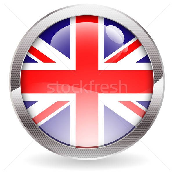 Gloss Button with British Flag Stock photo © -TAlex-