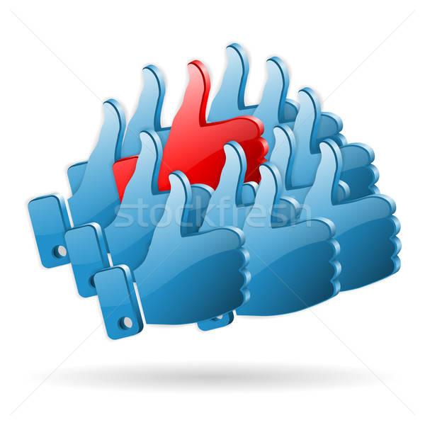 Különleges vélemény közösségi média ahogy ikonok egy Stock fotó © -TAlex-