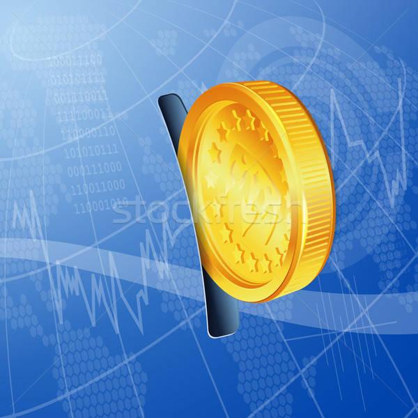 Finansal para Internet altın madeni vektör Stok fotoğraf © -TAlex-