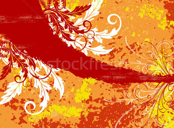 Abstract chaos grunge verf element Stockfoto © -TAlex-