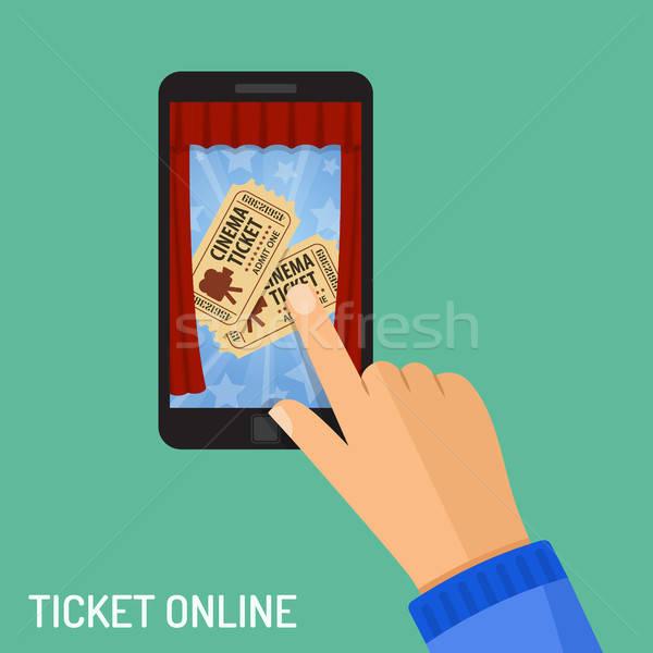 online cinema ticket order concept Stock photo © -TAlex-