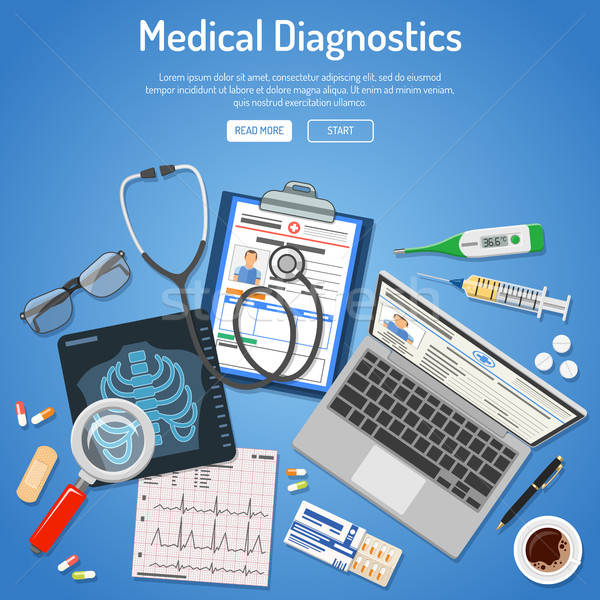 Medical diagnostics concept Stock photo © -TAlex-