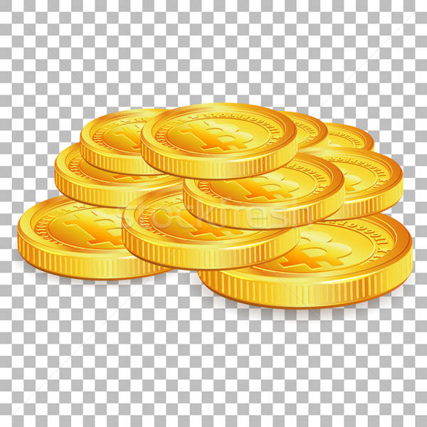Stack Bitcoins on transparent background Stock photo © -TAlex-