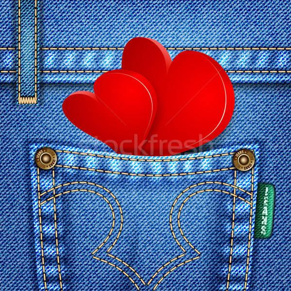 Stock photo: Valentine Jeans Texture