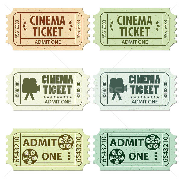 Stock photo: Set Cinema Ticket