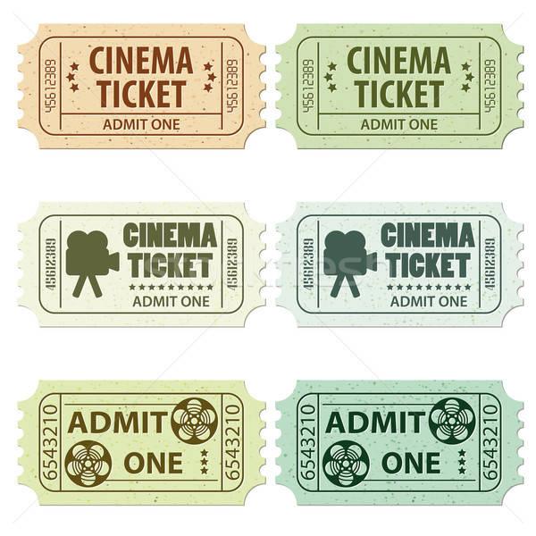 Cine billete entradas colores vector for Fake movie ticket template