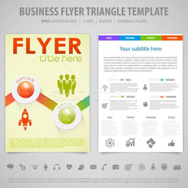 Flyer Design Template Stock photo © -TAlex-