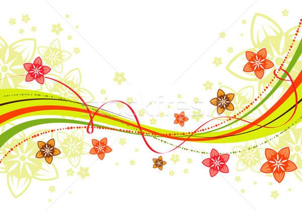 Virágmintás hullám minta alkotóelem terv absztrakt háttér Stock fotó © -TAlex-