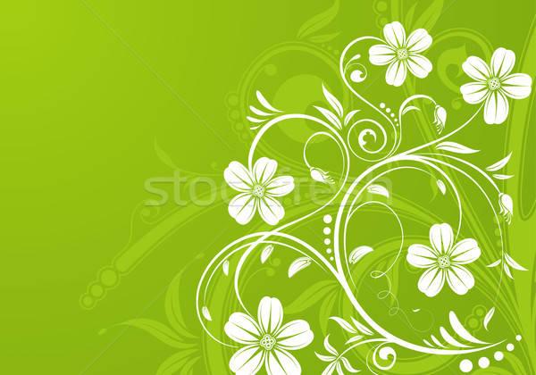 Virágmintás virág rügy alkotóelem terv absztrakt Stock fotó © -TAlex-