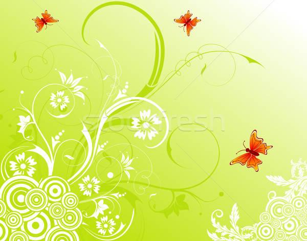 Abstrato floral caos borboleta elemento projeto Foto stock © -TAlex-