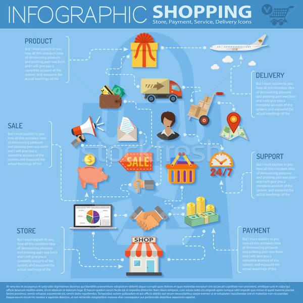 Online Shopping Infographics Stock photo © -TAlex-