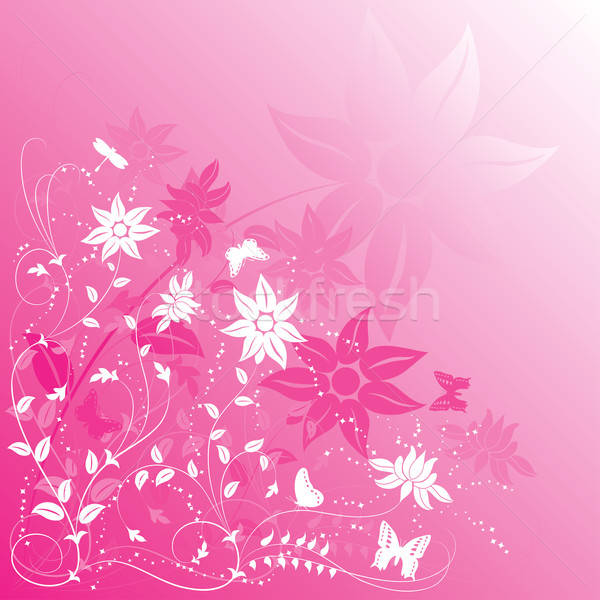 Background flower with butterfly Stock photo © -TAlex-