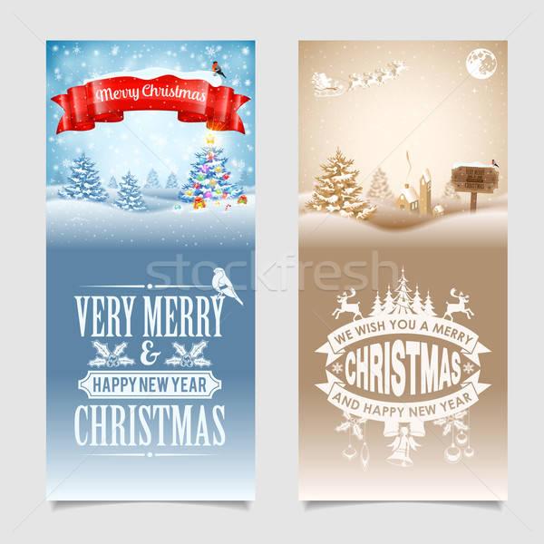 Christmas Banners Stock photo © -TAlex-