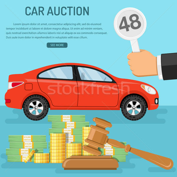 Stock photo: sale car at auction