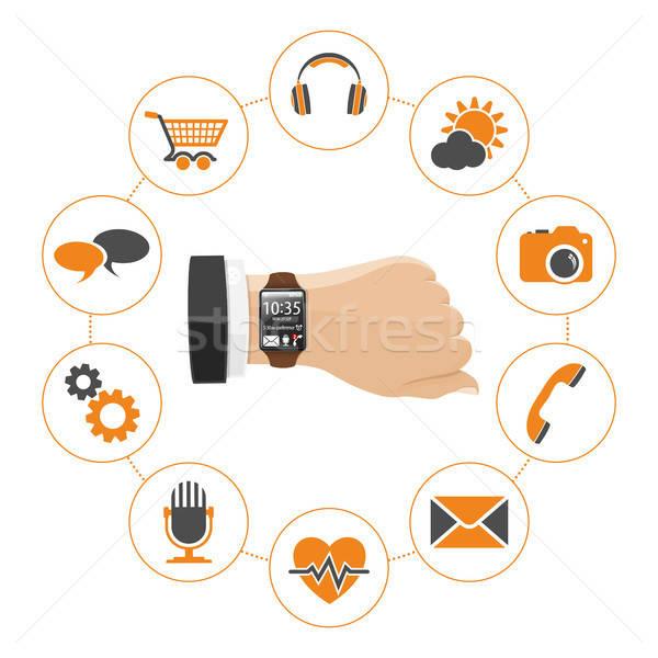 Akıllı izlemek uygulamaları ayarlamak simgeler can Stok fotoğraf © -TAlex-