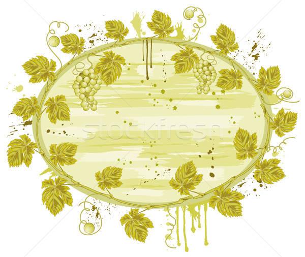 Vid marco grunge uvas elemento diseno Foto stock © -TAlex-