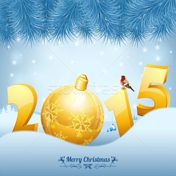 Stock photo: New Year Background