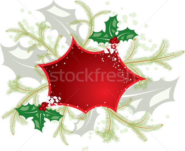 Mistletoe christmas frame, elements for design, vector Stock photo © -TAlex-