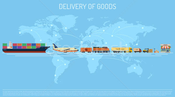 Delivery of Goods Concept Stock photo © -TAlex-