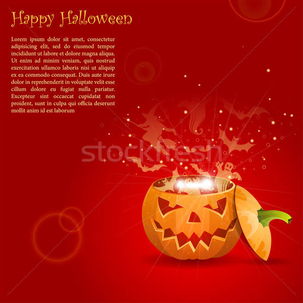 Wenskaart halloween kwaad spiritualiën pompoen eps10 Stockfoto © -TAlex-