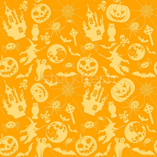 Halloween seamless background Stock photo © -TAlex-