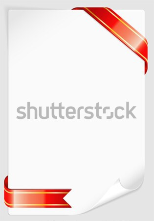 Sheet of white paper with Ribbon Stock photo © -TAlex-