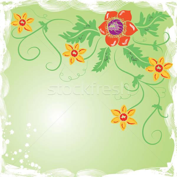Grunge background flower, elements for design Stock photo © -TAlex-