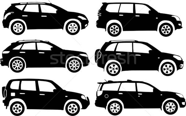 Silhouette voitures vecteur voiture route vitesse Photo stock © -TAlex-