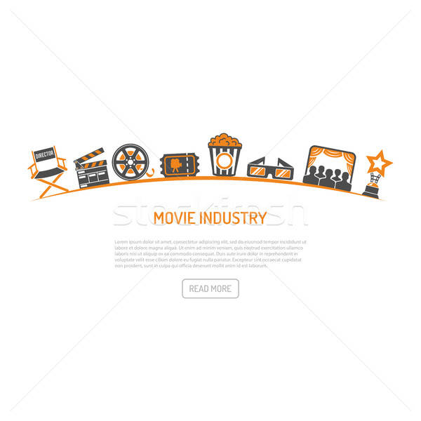 Cinema and filming concept Stock photo © -TAlex-