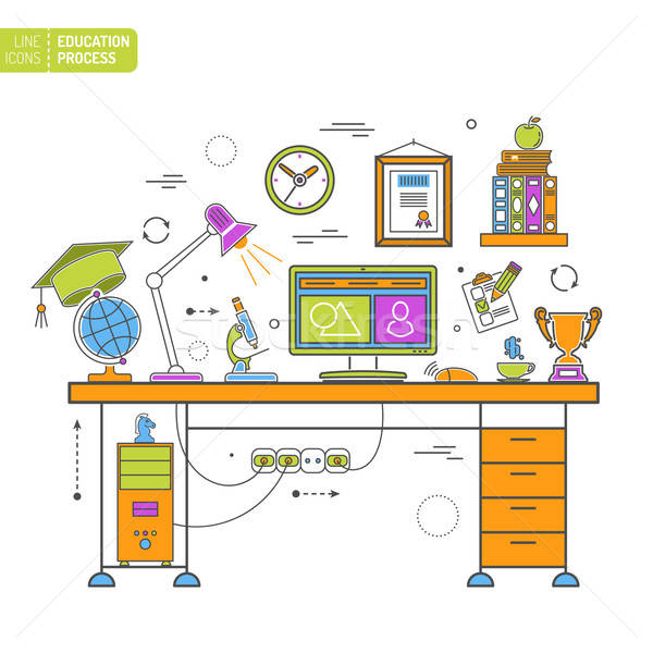 Online Education Process Stock photo © -TAlex-