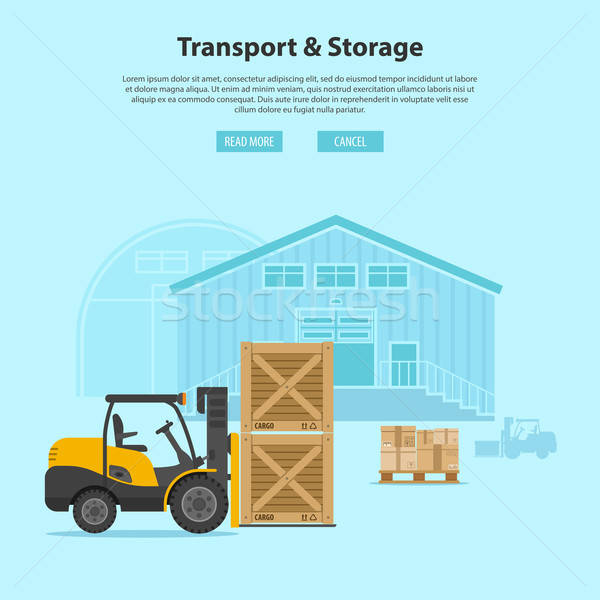 Forklift and Warehouse Stock photo © -TAlex-