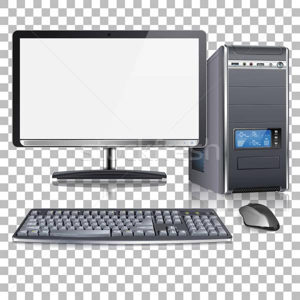 Hoog gedetailleerd moderne computer realistisch 3D Stockfoto © -TAlex-