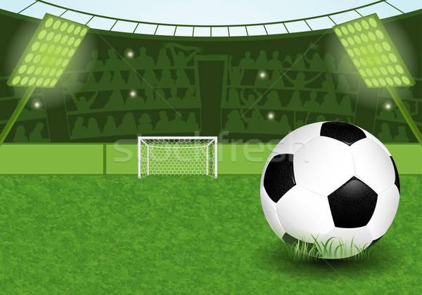 サッカー スタジアム サッカー サッカーボール ファン 草 ストックフォト © -TAlex-