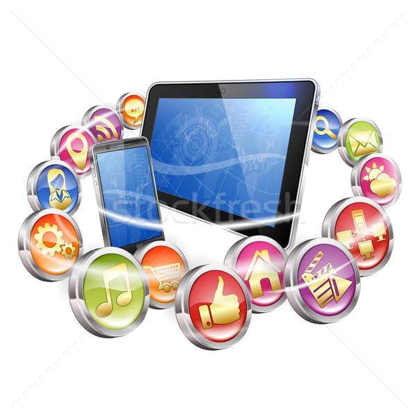 Applications for Mobile Platforms Stock photo © -TAlex-