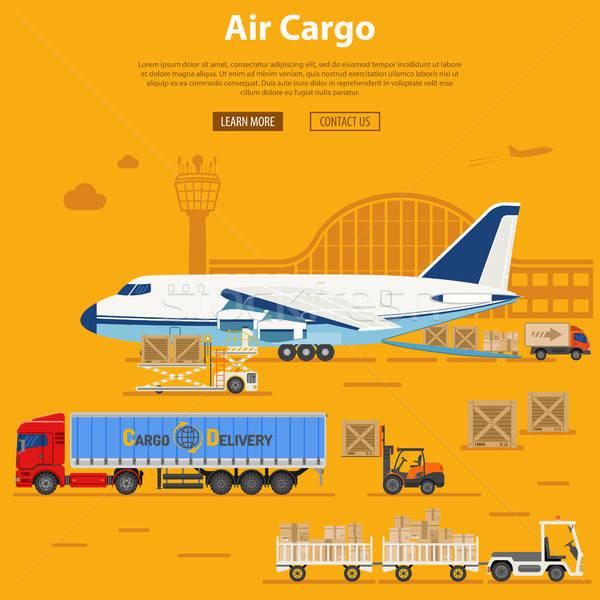 空気 貨物 配信 物流 アイコン トラック ストックフォト © -TAlex-