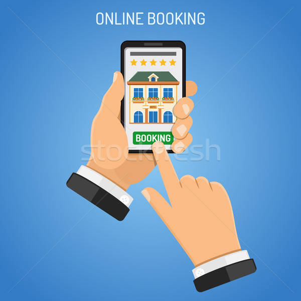 Online Booking Hotel Stock photo © -TAlex-