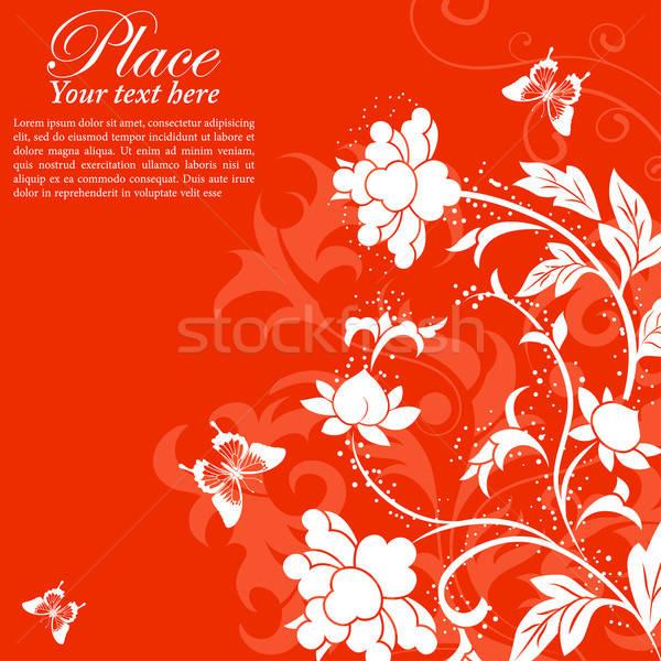 Blume Rahmen Schmetterling Element Design Textur Stock foto © -TAlex-