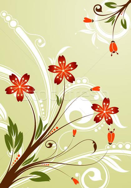 Virágmintás alkotóelem terv absztrakt háttér narancs Stock fotó © -TAlex-