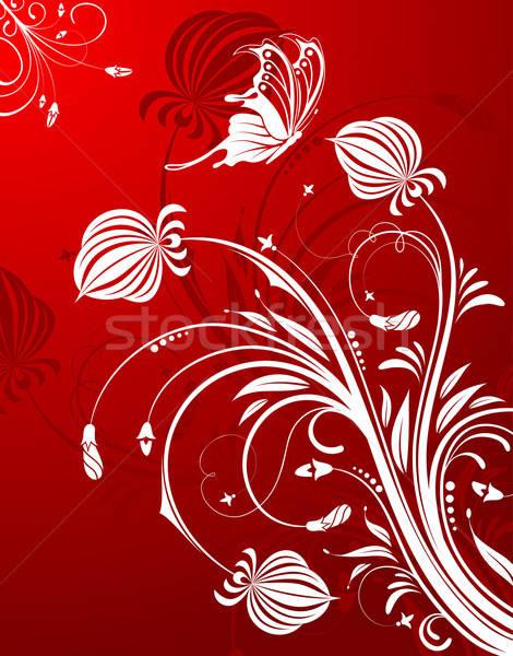 Abstrato teste padrão de flor borboleta elemento projeto flor Foto stock © -TAlex-