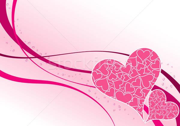 San valentino puzzle cuori modello onda elemento design Foto d'archivio © -TAlex-