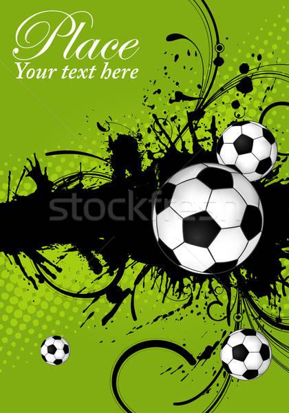 футбольным мячом Гранж элемент дизайна кадр искусства Сток-фото © -TAlex-