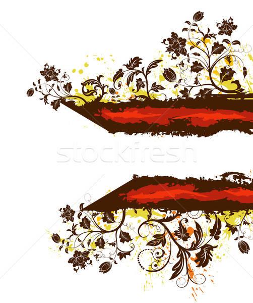 Гранж цветочный хаос краской элемент дизайна Сток-фото © -TAlex-